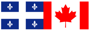 Image of Quebec and Candian flags